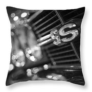 1970 Chevy Chevelle Ss 396 Black And White Throw Pillow