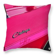 1970 Dodge Challenger Rt 440 Six Pack - Tickled Pink Throw Pillow