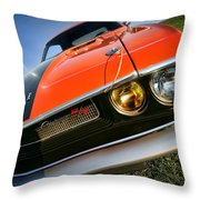 1970 Dodge Challenger Rt Hemi Orange Throw Pillow