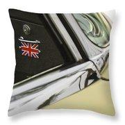 1970 Jaguar Xk Type-e Emblem Throw Pillow