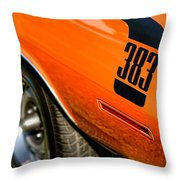 1970 Plymouth Cuda Barracuda 383 Throw Pillow