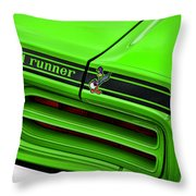 1970 Plymouth Road Runner - Sublime Green Throw Pillow