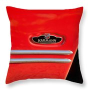 1970 Volkswagen Vw Karmann Ghia Emblem Throw Pillow