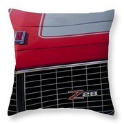1971 Chevrolet Camaro Grille Throw Pillow