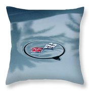 1971 Chevrolet Corvette Gas Cap Emblem Throw Pillow