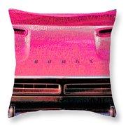 1971 Dodge Challenger - Pink Mopar Typography Throw Pillow