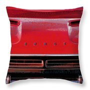 1971 Dodge Challenger - Red Mopar Typography Throw Pillow