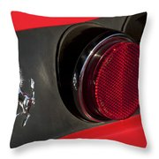 1972 Ferrari 365 Gtc-4 Emblem Throw Pillow