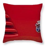 1972 Maserati Ghibli 4.9 Ss Spyder Emblem Throw Pillow