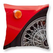 1972 Maserati Ghibli 4.9 Ss Spyder Wheel Throw Pillow