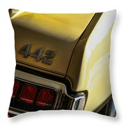 1972 Oldsmobile 442 Throw Pillow