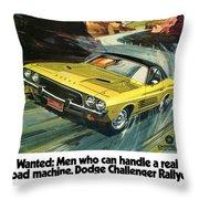 1973 Dodge Challenger Rallye Throw Pillow
