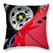 1973 Ferrari 246 Gts Dino Emblem 5 Throw Pillow