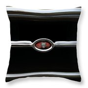 1973 Jaguar Type E Emblem Throw Pillow