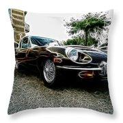 1973 Jaguar Type E Fantasy  Throw Pillow
