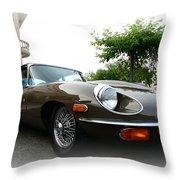 1973 Jaguar Type E Throw Pillow