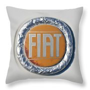 1977 Fiat 124 Spider Emblem Throw Pillow