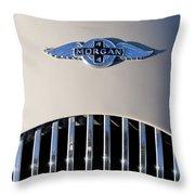1977 Morgan Plus 4 Hood Emblem Throw Pillow