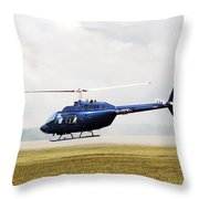 1980 Bell Helicopter Textron Bell 206b Throw Pillow