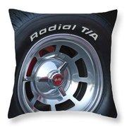 1980 Chevrolet Corvette Wheel Throw Pillow