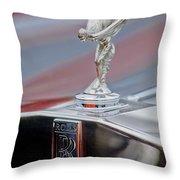 1984 Rolls-royce Silver Spur Hood Ornament Throw Pillow
