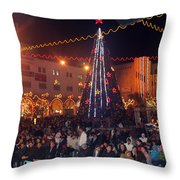 1st International Christmas Festival Throw Pillow