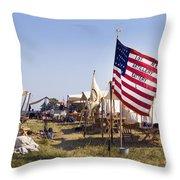 1st New York Artillery Throw Pillow