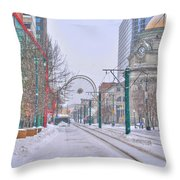 1st Real Snow Golddome 2012 Throw Pillow