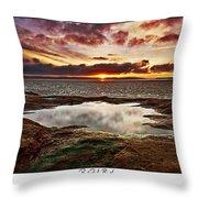 Red Rock Beach Throw Pillow