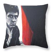 - Scarface - Throw Pillow by Luis Ludzska