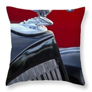 1935 Packard Hood Ornament Throw Pillow