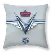 1953 Chrysler Imperial Custom Emblem Throw Pillow