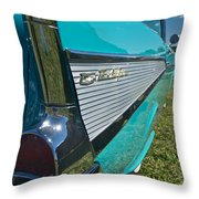1957 Chevy Convertable Throw Pillow