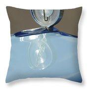 1958 Edsel Ranger Hood Ornament Throw Pillow