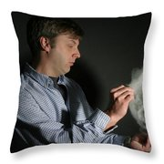 A Balloon Is Popped Throw Pillow