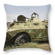 A Brdm-2 Combat Reconnaissancepatrol Throw Pillow
