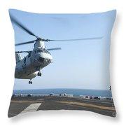A Ch-46e Sea Knight Helicopter Prepares Throw Pillow
