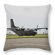 A German Air Force Transall C-160 Taxis Throw Pillow