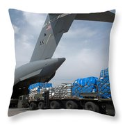 A Japanese Soldier Marshals Vehicles Throw Pillow