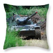 A Leopard 1a5 Mbt Of The Belgian Army Throw Pillow