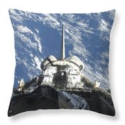 A Partial View Of Space Shuttle Throw Pillow
