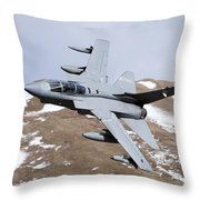 A Royal Air Force Tornado Gr4 Throw Pillow