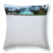 A Small Mosque On The Banks Of The River  Throw Pillow