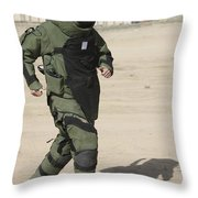 A U.s. Marine Tries Running In A Bomb Throw Pillow