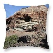 Abandoned Manganese Mine At Cape Vani Throw Pillow
