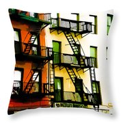 Above The Market Throw Pillow