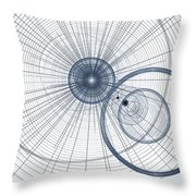 Abstract Circle Art Throw Pillow