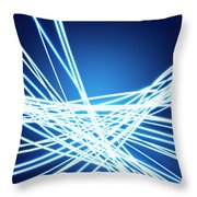 Abstract Of Weaving Line Throw Pillow