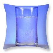 Alka-seltzer Dissolving In Water Throw Pillow