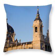 Almudena Cathedral In Madrid Throw Pillow
